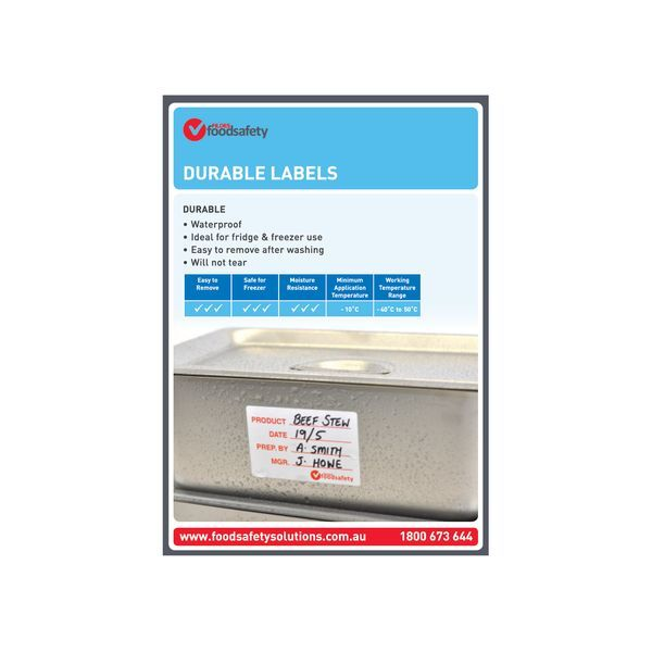 Durable Labels Poster