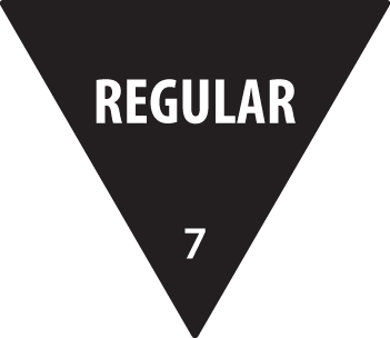 Removable 30mm Triangle Regular (Black)