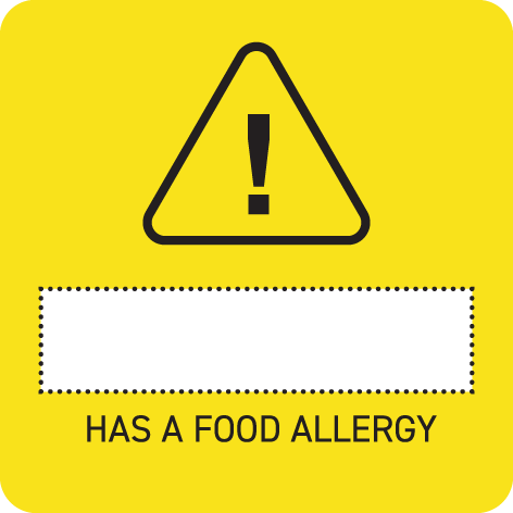 Removable 40mm Childcare Allergy Label