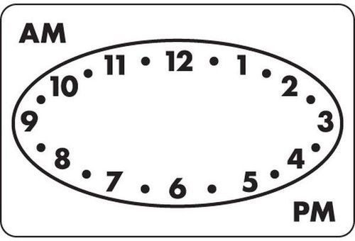 Removable 38 x 25mm Clock Dot