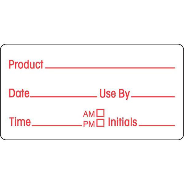 24 x 48mm Product  Label