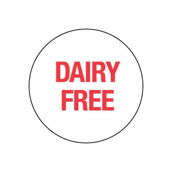 Removable 24mm Circle Dairy Free (Red)
