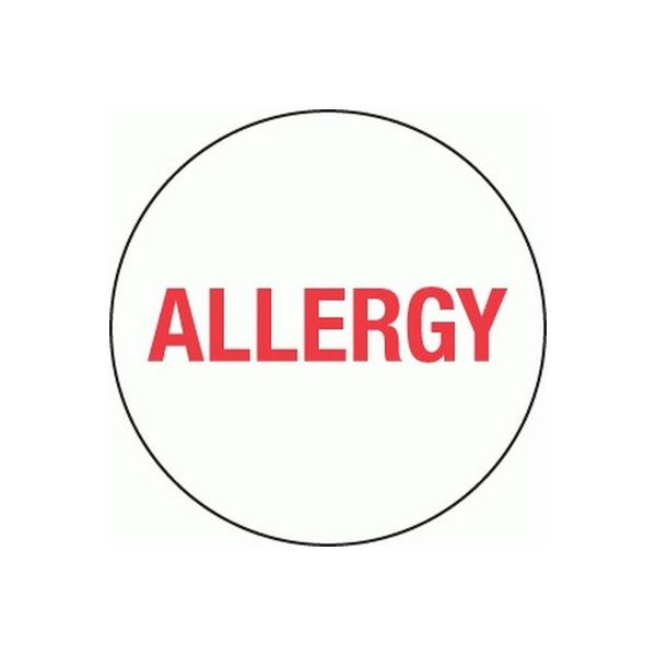 Removable 24mm Circle Allergy (Red)