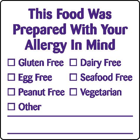 Removable 40mm Advisory - Allergy (Purple)