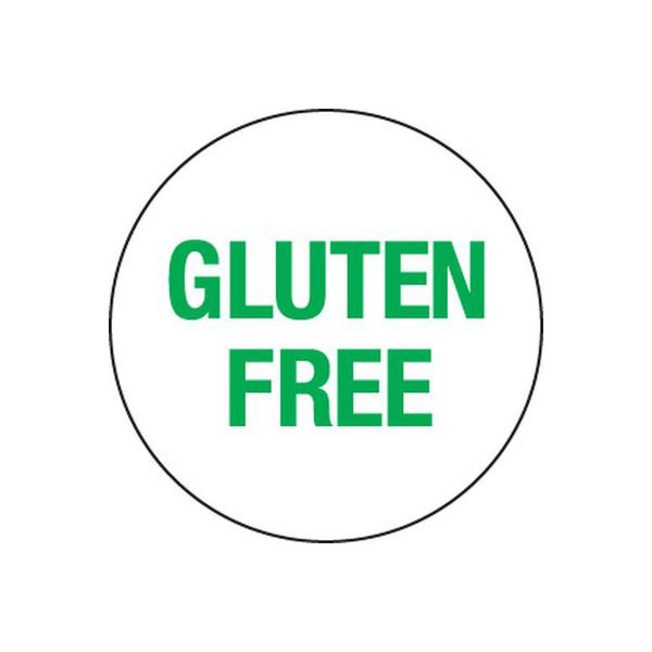 Removable 24mm Circle Gluten Free (Green)